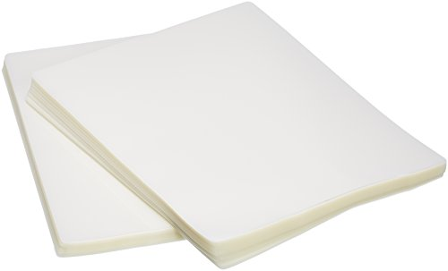 Laminators Laminating - AmazonBasics Clear Thermal Laminating Plastic Paper Laminator Sheets - 8.9 Inch x 11.4 Inch, 200-Pack