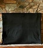 Large Pavenex Fireplace Blanket Stops Overnight Heat Loss, In Black