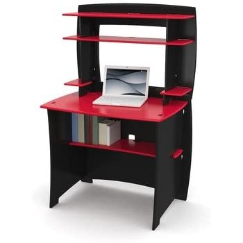 Amazon Com Legare Kids Desk With Hutch 36 Inch Red And