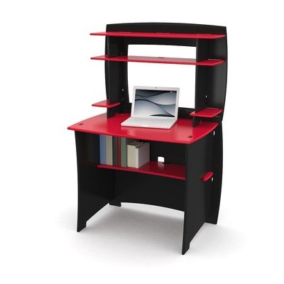 Legare Kids Desk with Hutch, 36-Inch, Red and Black by Legare