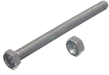Qty 20 Hex Set Screw M10 10mm x 75mm Zinc Plated High Tensile Class 8.8 Bolt