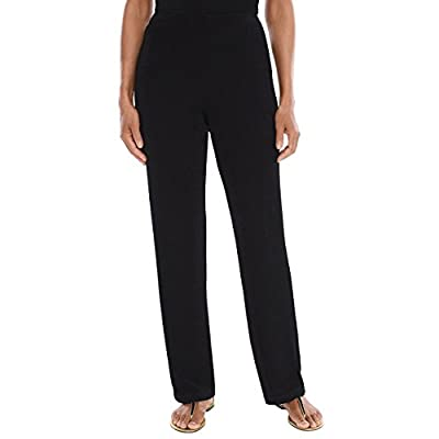 Chico's Women's Travelers Classic No Tummy Wrinkle Resistant Pull On Straight Leg Pants at Women's Clothing store