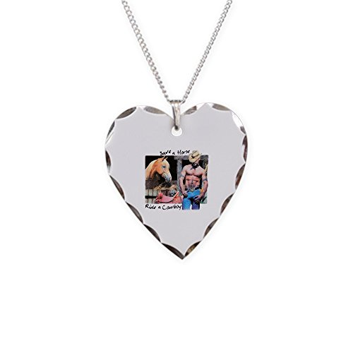 Save A Horse Ride A Cowboy Costumes - Royal Lion Necklace Heart Charm Country