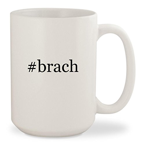#brach - White Hashtag 15oz Ceramic Coffee Mug Cup