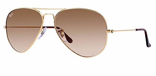 Metal Sunglasses Gold Rb3025 crystal Ban Brown Gradient Aviator Ray x76E47g