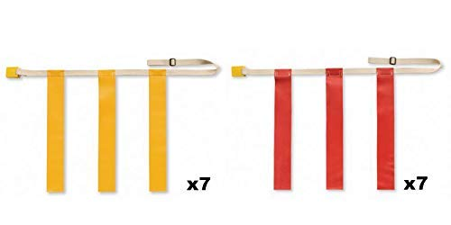 SSG Triple Threat Flag Football 2 Team Bundle (Large, Yellow and Red)