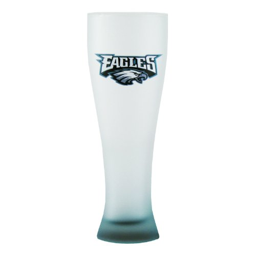 nfl-philadelphia-eagles-frosted-pilsner-glass-with-bottom-spray-23-ounce