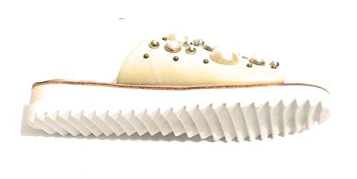 Donna Scarpe Perle Sintetiche Ds18pi09 Ciabatta Pelle Beige In Pixy Con Col SUpq5xw