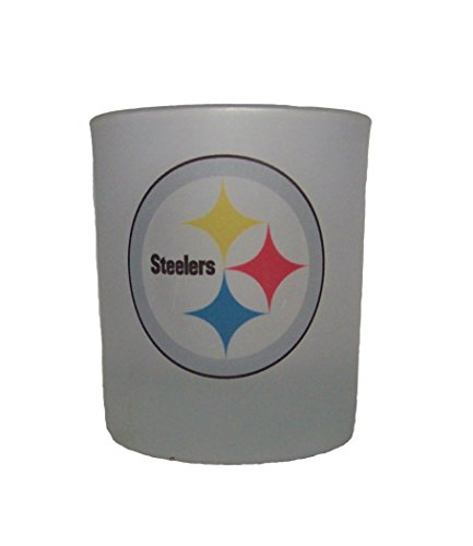 NFL Pittsburgh Steelers 14 oz Whiskey Rocks Glass Satin (Frosted Rocks Glass)