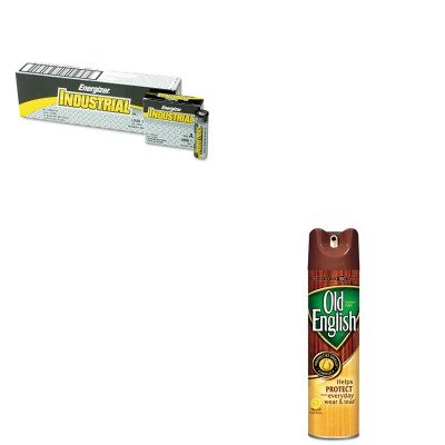 Old English KITEVEEN91RAC74035EA - Value Kit Furniture Polish (RAC74035EA) and Energizer Industrial Alkaline Batteries (EVEEN91) by Old English