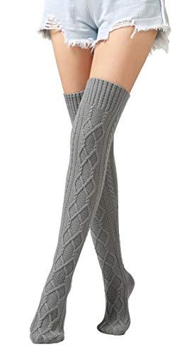 Womens Knee High Socks Boot Cuff Socks Girls Leg Warmers Crochet Knitted Boots Socks