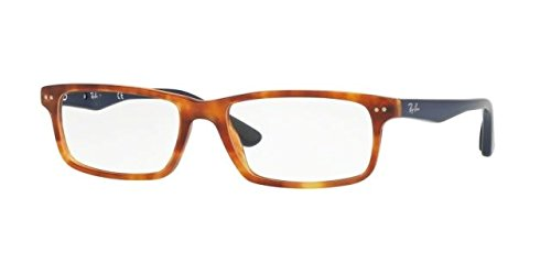 Ray-Ban Men's RX5277 Eyeglasses Shiny Red Havana 52mm