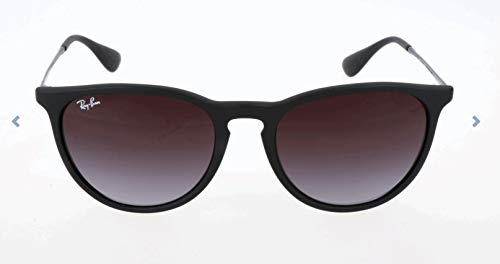 Ray-Ban RB4171 Erika Round Sunglasses, Black Rubber/Grey Gradient, 54 ()