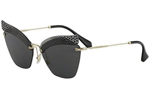 Gafas Transparent para 0MU56TS Miu Gris XEJ1A1 de Sol Mujer Miu 63 Grey  wIvZqpv f4445bd0c563
