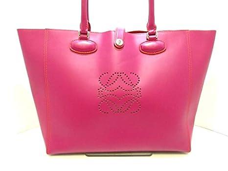100% authentic 96c27 bb39f Amazon.co.jp: (ロエベ) LOEWE トートバッグ レオ ピンク ...