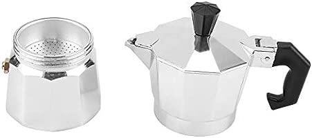 50ml Cafetera italiana Moka, 1 taza de aluminio Tipo ...