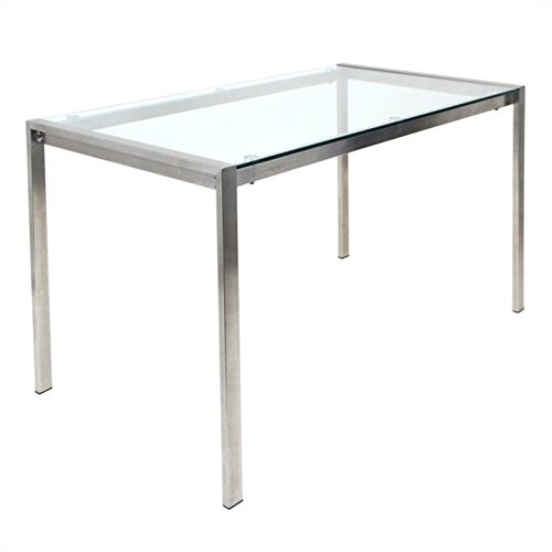 WOYBR TB-FUJI4728 CL Stainless Steel, Glass, Fuji Dining (Glass Top Dinette)
