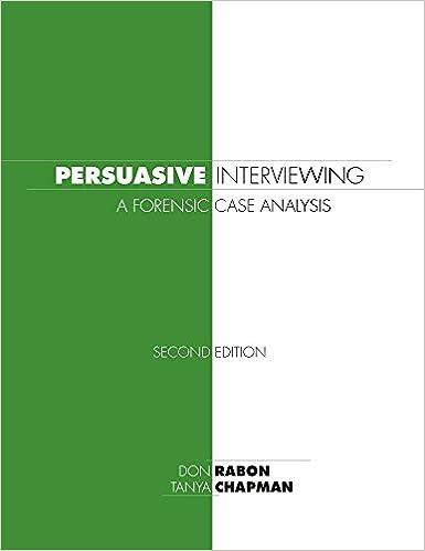 Persuasive Interviewing: Don Rabon, Tanya Chapman