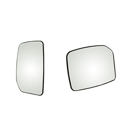 MagiDeal 2 Piezas De Espejo Retrovisor Lateral con ala Trasera Izquierda + Vidrio Derecho para Ford Transit