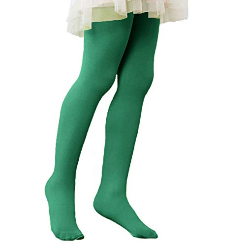 Girls' Ultra Soft Ballet Dance Footed Tight Knit Casual School Leggings For Toddlers/Little Kids/Big Kids 1 Pack Dark Green Small (27.56