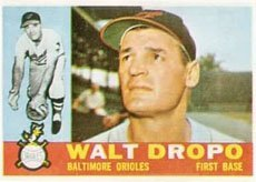 1960 Topps Regular (Baseball) Card# 79 Walt Dropo of the Baltimore Orioles VGX Condition ()