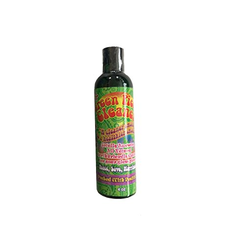 Green Piece Cleaner 4 oz - Travel Size - The All Natural Glass Cleaner, Metal and Ceramic Water Pipe/Bong/Bubbler - Earth Friendly Resin and Tar Remover (Inside Out Bubbler)