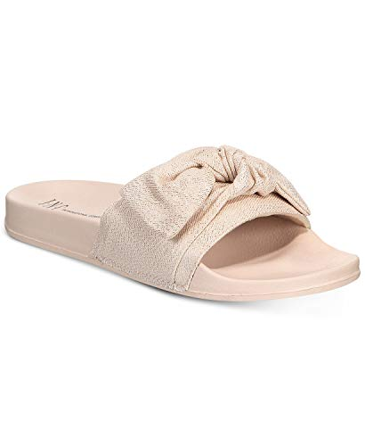 INC International Concepts Women's Knotted Slide Slippers (Pastel Pink, M M)