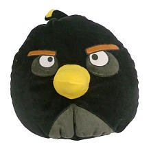 Angry Birds Plush Pillow Bomber Black Bird Potbellies Rovio Licensed NEW (Belly Bird)