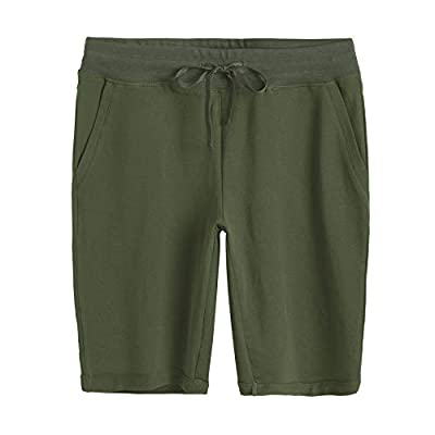 Weintee Women's Cotton Bermuda Shorts with Pockets at Women's Clothing store