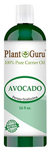 Avocado Oil 16 oz Cold Pressed Carrier 100% Pure Natural Skin, Face, and Hair Growth Moisturizer. Perfect For DYI Creams, Lotions, Lip balm and Soap Making.