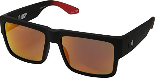 Spy Optic Unisex Cyrus Cyrus Soft Matte Black/Red Fade/Happy Gray/Green/Red Flash One Size by Spy