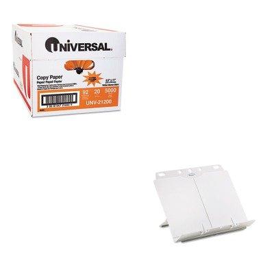- KITFEL21100UNV21200 - Value Kit - Fellowes BookLift Adjustable Desktop Copyholder (FEL21100) and Universal Copy Paper (UNV21200)