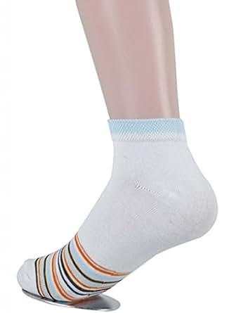 Valentine Women's 12 Pack Compression Cotton Liner Ankle Crew Socks Medium White