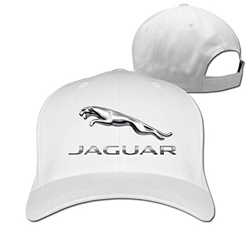 Censu Personalized Fashion Jaguar Logo Adjustable \r\n Outdoor Sport Cap for Unisex,White