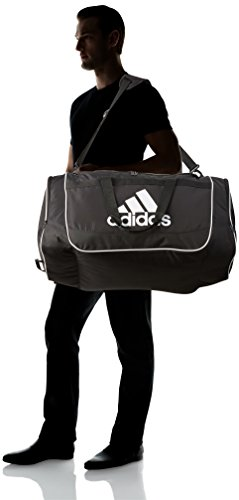 adidas Defender II Duffel Bag (Medium), Black, 13 x 24 x 12-Inch
