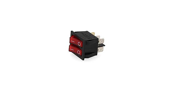 16 A EDM 45037 Interruptor Doble Luminoso Empotrado Multicolor