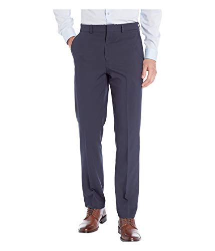 Dockers Men's Slim Fit Trouser with Stretch Waistband, Navy, 40x30