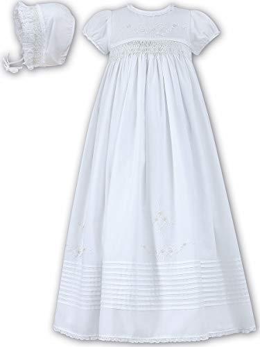Sarah Christening Louise Dresses - Sarah Louise White White Christening Gown w/Bonnet (White, Newborn)