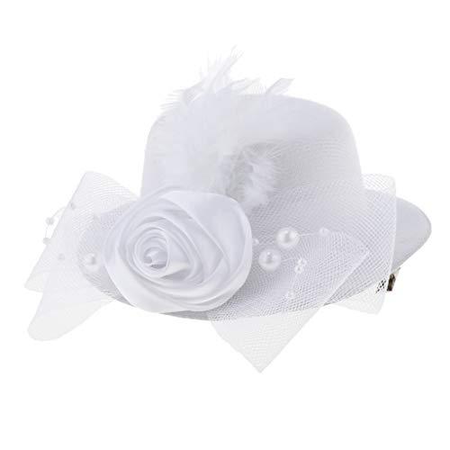 Bambino Top 2 Dei Fascinator Capretti Hat Sul Stile Velo Come bianco Hairclip Costume Stile Ragazze Piuma 1 Magideal Lo Mini nero Descritto FwS6qPY5x