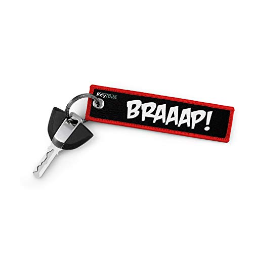 KEYTAILS Keychains, Premium Quality Key Tag for Motorcycle, Car, Scooter, ATV, UTV [Braaap!] (Best Quality Motorcycle Chain)