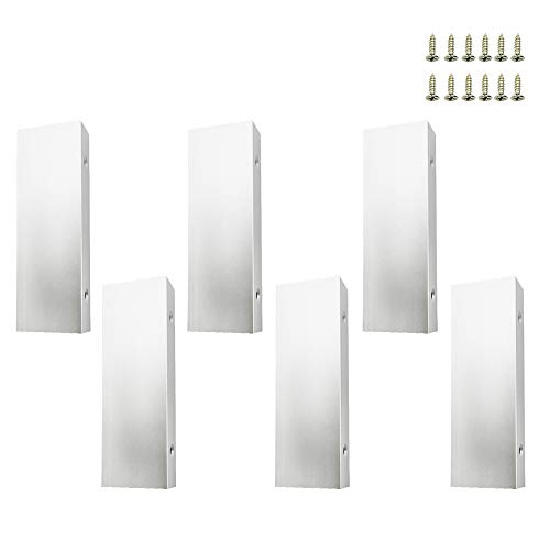 LICTOP SILVER 3.94'' / 100mm Nickel Back Mount Finger Pull for Home Kitchen Cabinets Drawers Aluminum (6Pcs)