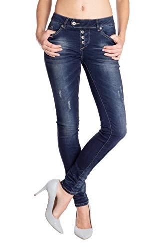 Bleu Uni Skinny Monkey Femme Blue Jeans Og7nf