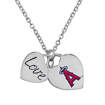 (Game Time 101607 MLB LA Angels Heart Necklace)