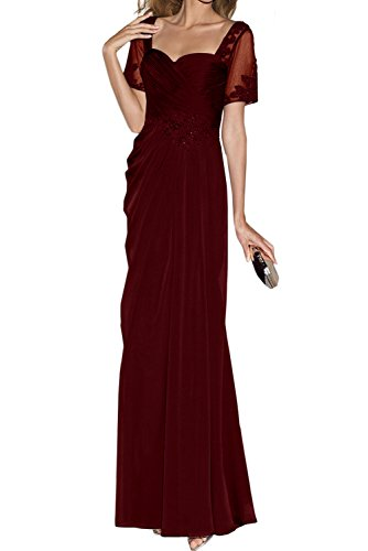 Abendkleider Neu Herzform Neu Elegant Weinrot Mutterkleider Lang Applikation Ivydressing ZAY4p