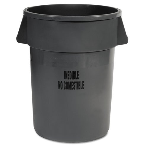 Rubbermaid Commercial Products Rcp 2643-56 Gra Brt Cntr 44 Gal-Inedbl Grey 4Cs RCP 2643-56 GRA