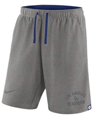 ナイキ メンズ Nike MLB Flux Game Shorts ショーツ ハーフパンツ Los Angeles Dodgers | Dark Grey Heather [並行輸入品] B07HC3R3B3  L