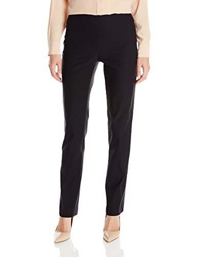 NIC+ZOE Women's Basic Wonderstretch Pant, Black Onyx, 8 - Separates Basic Pant