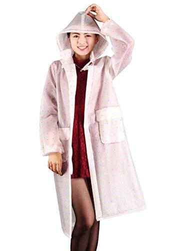 Women Outdoor Hooded Raincoat Plaid Bicycle Fashionable Polka Poncho 7 Farbe Dots Rainwear Classiche Waterproof Donne FqxxBR