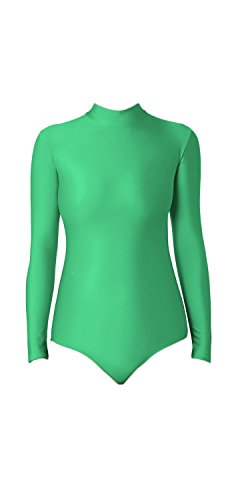 WOLF UNITARD Turtle Neck Leotard for Adult and Child Large Green]()