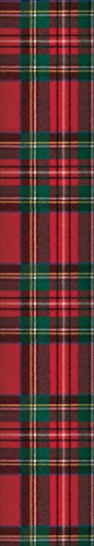 Entertaining with Caspari Royal Plaid Fireplace Matches, Red